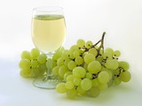 grapes bunch and grape wine poster
