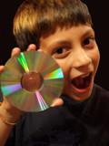 boy burning disc poster