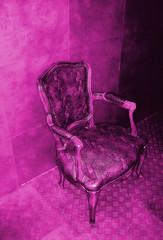 fauteuil rose