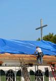 church roof repair poster