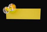yellow logo poster