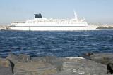 big ship in bosporus. turkey. poster