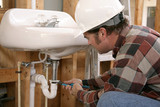 construction plumbing work poster