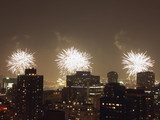 4th of july fireworks from midtown manhattan poster