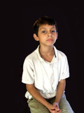 boy with good posture poster