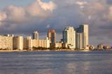 west side south beach skyline poster
