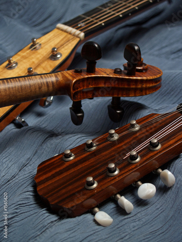 mandolin, violin, guitar heads detail