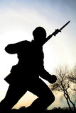 army man silhouette poster