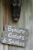 beware of gators and snakes poster