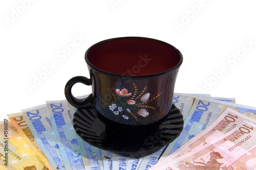 money and cup