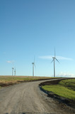 wind generators providing alternate energy poster