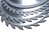 circular saw blades with various numbers of teeth poster