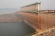 dam wall in mist