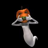 pumpkin headed ghost 3 poster