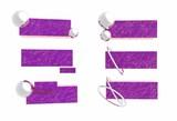 purple logo set poster