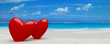 2 hearts on beach