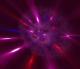 space violet  nebula poster