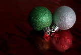 two sparkling baubles poster