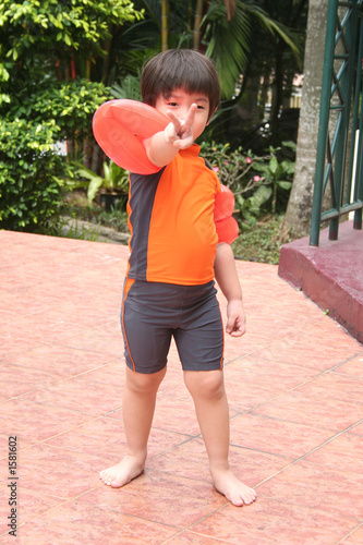 boy with swimming costumer