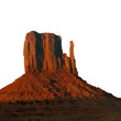west mitten at sunset, monument valley (isolated)