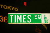 times square road sign, new york city poster