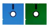 vintage 5' 1/4 floppy disks poster