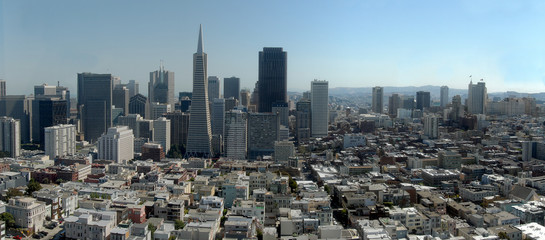 san francisco large panorama from coit tower