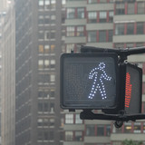 walk pedestrian signal in nyc poster