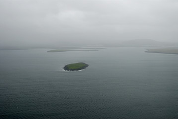 aerial view to iceland seacoast