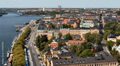 poster of view from royal palace tower, stockholm, sweden