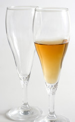 two wine glass isolated
