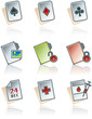 design elements 43b. paper works icons set