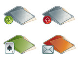 design elements 45b. folders icon set poster