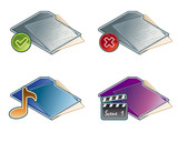 design elements 45a. folders icon set poster