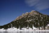 frozen lake mountain poster