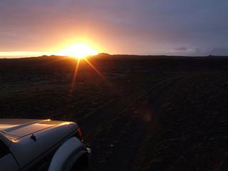 car with midnight sun