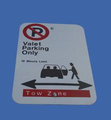 valet parking only