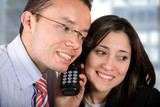 business partners - good news on the phone poster