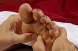 Fototapety reflexology foot massage at spa