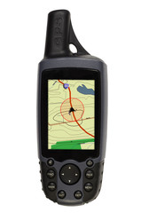 gps with map on white