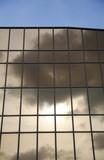 glass wall of modern trade center poster