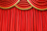 theatre curtains poster