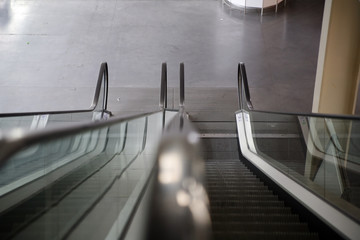 empty escalators