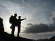 roleta: alpinistes au coucher/lever du soleil