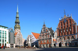 riga, the town hall area