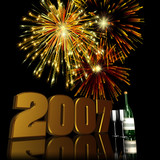 2007 new year fireworks 2 poster