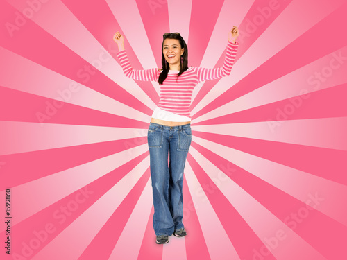 girl dancing on a disco background
