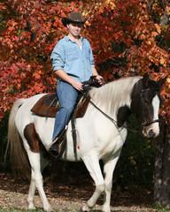 horse girl riding