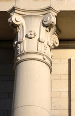decorated column