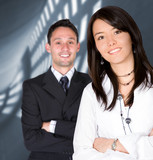 business partners - young entrepreneurs poster